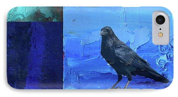 IPhone Case featuring the digital art Blue Raven by Nancy Merkle