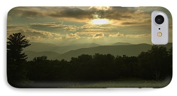 IPhone Case featuring the photograph Blue Ridge Mountain Sunset by Stephen  Vecchiotti