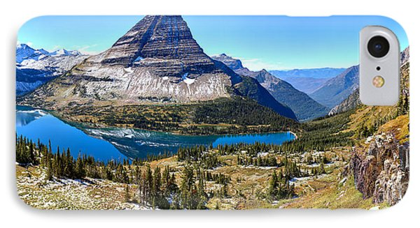 Blue Skies Over Hidden Lake Panorama IPhone Case by Adam Jewell