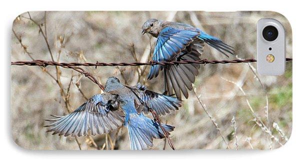 Bluebird Battle IPhone 7 Case by Mike Dawson