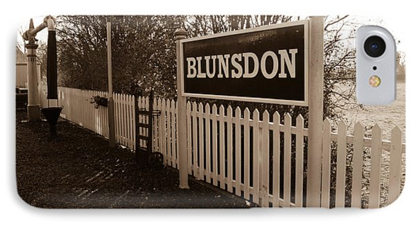 Blunsdon Station At Swindon And Cricklade Railway IPhone Case by Steven Sexton