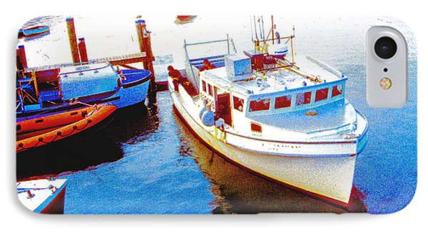 Boats In Cape Cod Bay Chatham Massachusetts IPhone Case