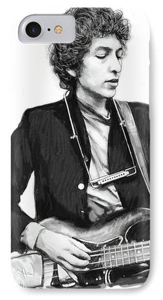 Bob Dylan Drawing Art Poster IPhone 7 Case by Kim Wang