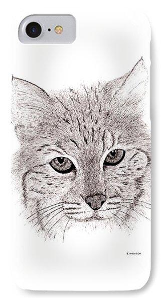 Bobcat IPhone Case by Ed Einboden