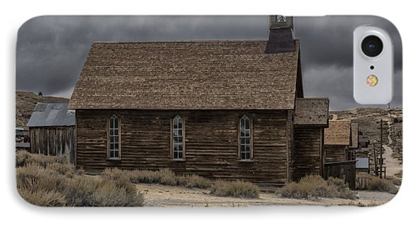 IPhone Case featuring the photograph Stormy Day In Bodie State Historic Park by Sandra Bronstein