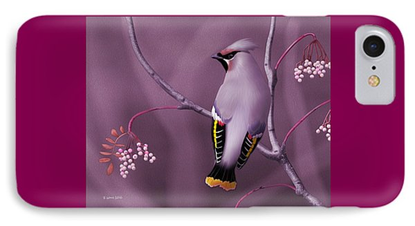 Bohemian Waxwing IPhone Case by John Wills
