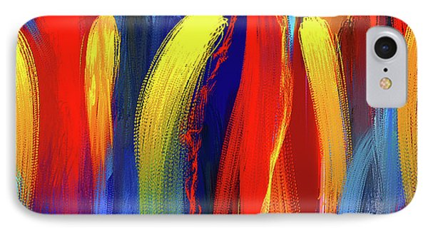 Be Bold - Primary Colors Abstract Art IPhone Case by Lourry Legarde