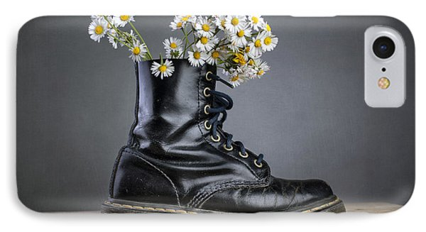 Boots With Daisy Flowers IPhone Case by Nailia Schwarz