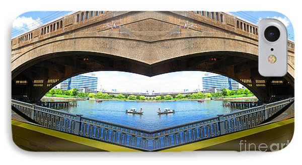 Boston Bridges Digiral Arc Transformation By Navin Joshi IPhone Case by Navin Joshi