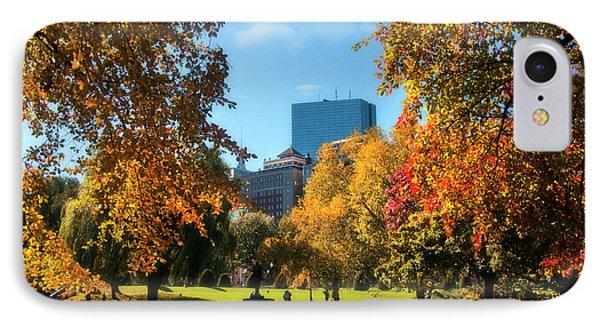 Boston Public Garden In Autumn IPhone Case