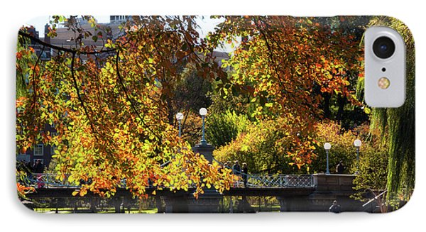 IPhone Case featuring the photograph Boston Public Garden - Lagoon Bridge by Joann Vitali