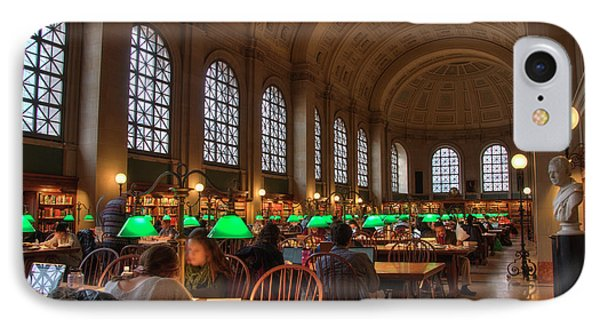 IPhone Case featuring the photograph Boston Public Library by Joann Vitali