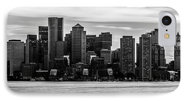 Boston Skyline Black And White Panoramic Picture IPhone Case by Paul Velgos