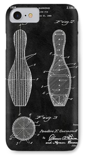 Bowling Pin Patent IPhone Case