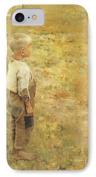 Boy With A Crow Phone Case by Akseli Gallen-Kallela
