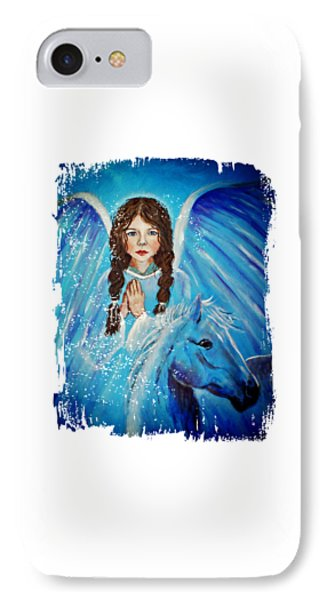 Brianna Little Angel Of Strength And Courage Phone Case by The Art With A Heart By Charlotte Phillips