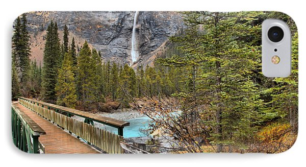 IPhone Case featuring the photograph Wooden Bridge To Takakkaw Falls by Adam Jewell