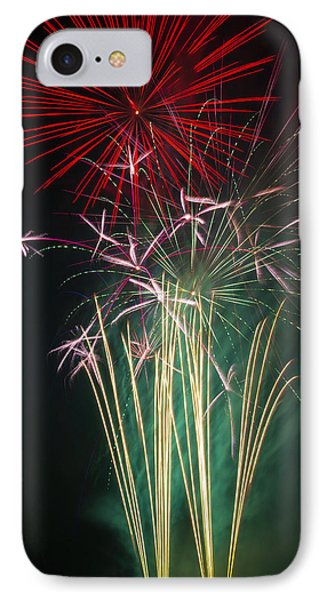 Bright Colorful Fireworks IPhone Case by Garry Gay