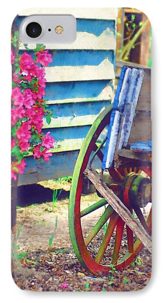 IPhone Case featuring the photograph Broken Wagon by Donna Bentley