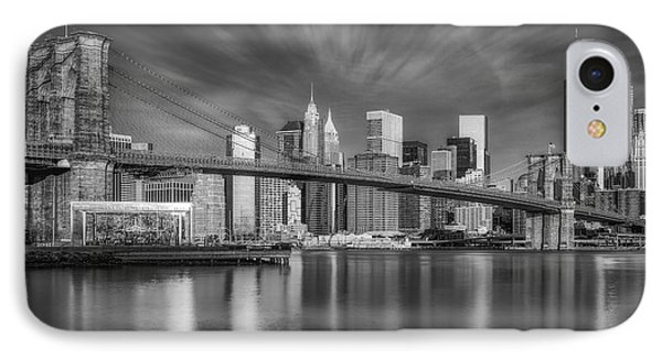 IPhone Case featuring the photograph Brooklyn Bridge From Dumbo by Susan Candelario
