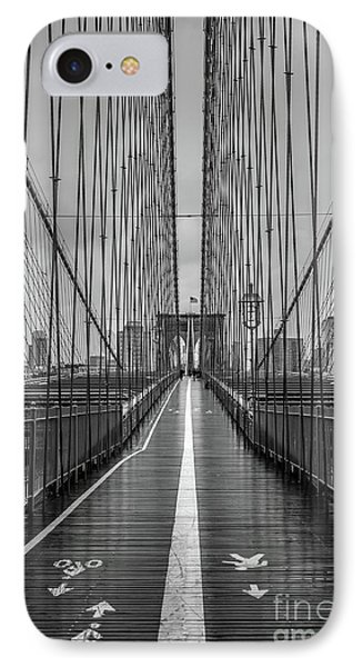 Brooklyn Bridge Nyc IPhone Case by Edward Fielding