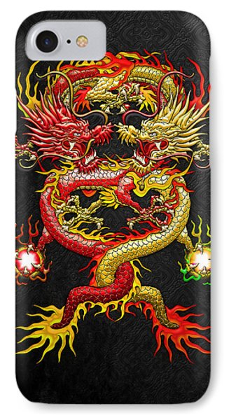 Brotherhood Of The Snake - The Red And The Yellow Dragons Phone Case by Serge Averbukh