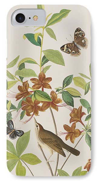 Brown Headed Worm Eating Warbler IPhone 7 Case by John James Audubon