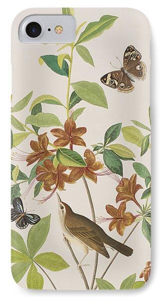 Brown Headed Worm Eating Warbler IPhone Case by John James Audubon