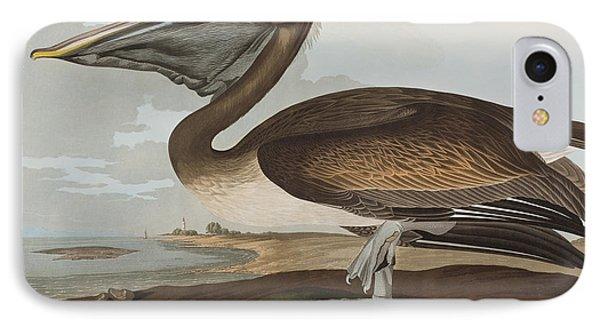 Brown Pelican IPhone 7 Case by John James Audubon