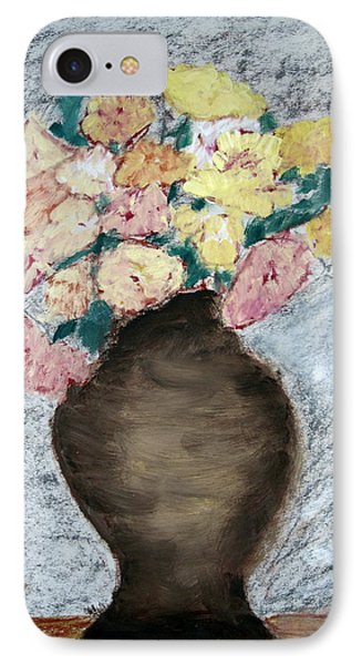 IPhone Case featuring the painting Brown Urn by Patricia Cleasby