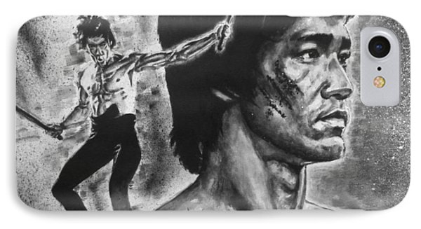 IPhone Case featuring the painting Bruce Lee by Darryl Matthews