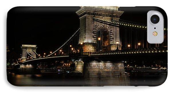Budapest At Night. IPhone Case by Jaroslaw Blaminsky