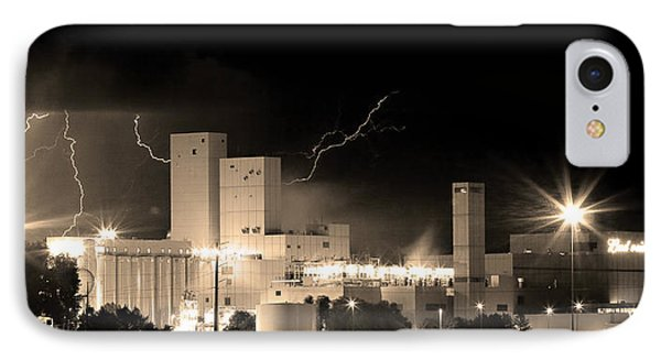 Budwesier Brewery Lightning Thunderstorm Image 3918  Bw Sepia Im Phone Case by James BO  Insogna