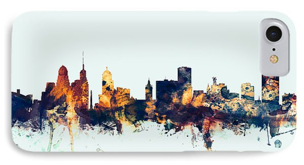 Buffalo New York Skyline IPhone Case by Michael Tompsett