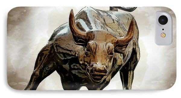 Bull Market IPhone Case by Daniel Hagerman