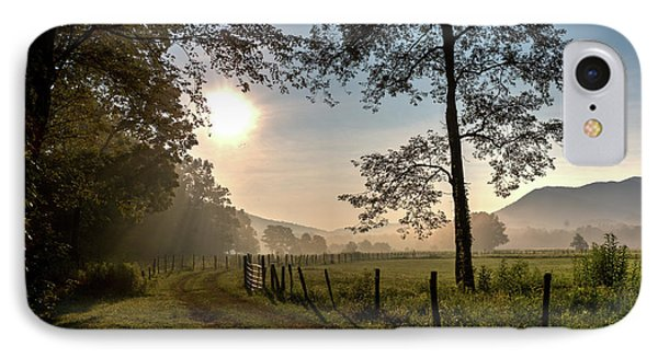IPhone Case featuring the photograph Cades Cove Sunrise by Douglas Stucky