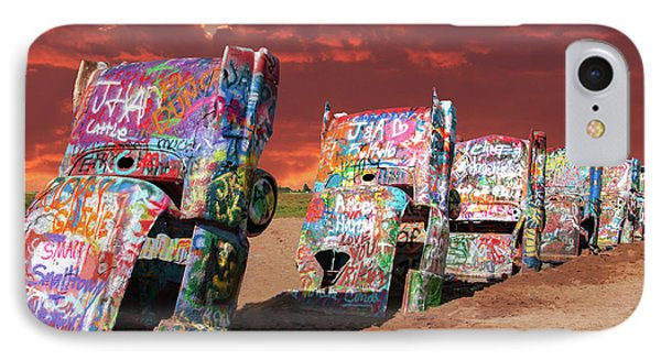 Cadillac Ranch IPhone Case by Carolyn Dalessandro
