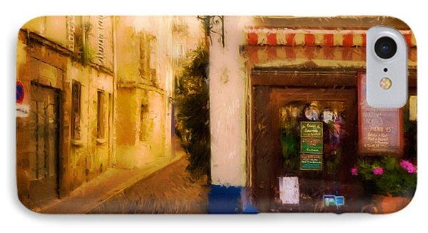 Cafe On The Rue Des Ursins Phone Case by Mick Burkey