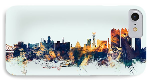 Calcutta Kolkata India Skyline IPhone Case by Michael Tompsett