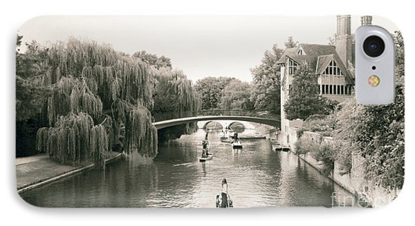 IPhone Case featuring the photograph Cambridge River Punting by Eden Baed