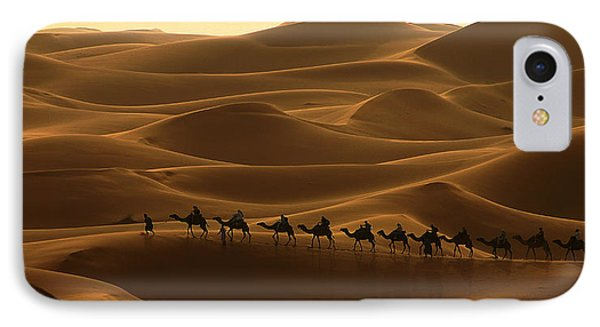 Camel Caravan In The Erg Chebbi Southern Morocco IPhone Case by Ralph A  Ledergerber-Photography