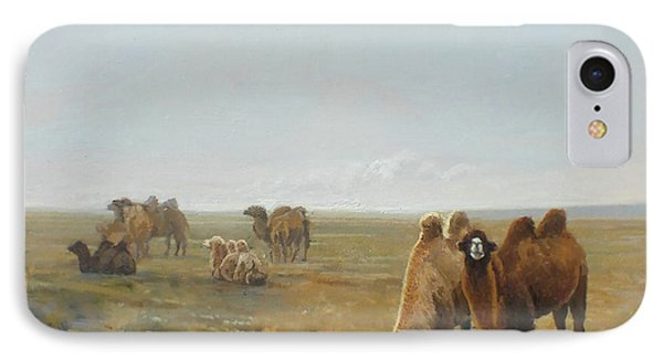 Camels Along The River IPhone 7 Case by Chen Baoyi