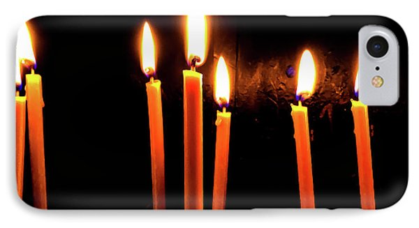 Candle Light Abstract In Church IPhone Case by Radu Bercan