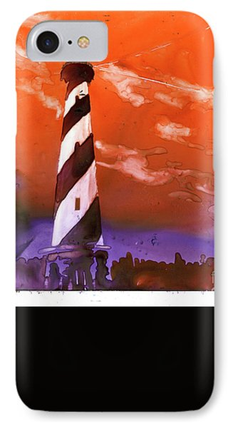 IPhone Case featuring the painting Cape Hatteras Lighthouse by Ryan Fox