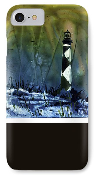 Cape Lookout Lighthouse IPhone Case by Ryan Fox