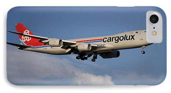 Jet iPhone 7 Case - Cargolux Boeing 747-8r7 4 by Smart Aviation