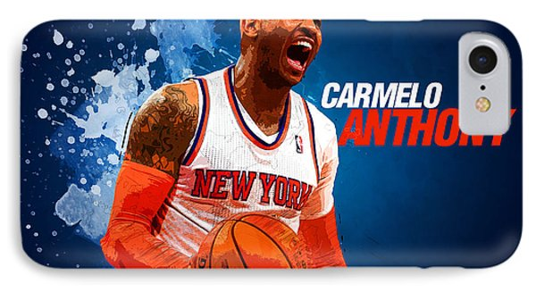 Carmelo Anthony IPhone Case by Semih Yurdabak