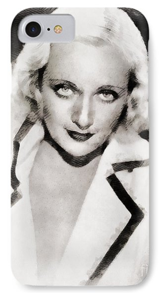 Carole Lombard Hollywood Actress IPhone Case by John Springfield