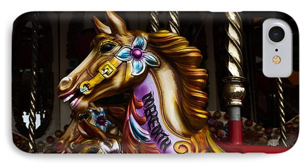 IPhone Case featuring the photograph Carousel Horses by Steve Purnell