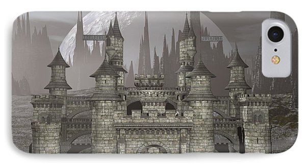 Castle By Night - 3d Render Phone Case by Elenarts - Elena Duvernay Digital Art